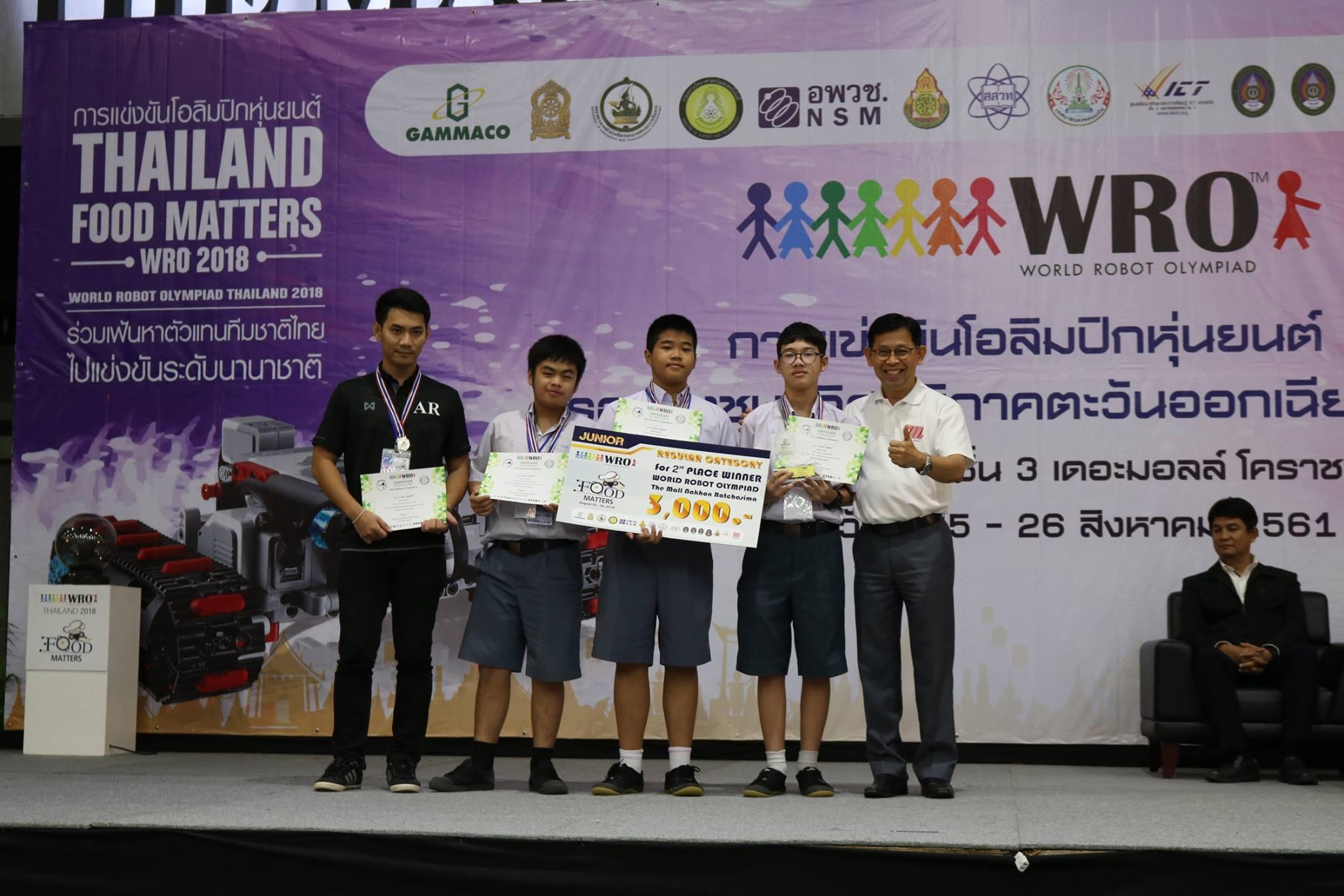 โรงเรียนสาธิตมหาวิทยาลัยมหาสารคาม (ฝ่ายมัธยม) ได้นำนักเรียนเข้าร่วมการแข่งขันโอลิมปิกหุ่นยนต์ (WRO2018) รอบชิงแชมป์ภาคตะวันออกเฉียงเหนือ